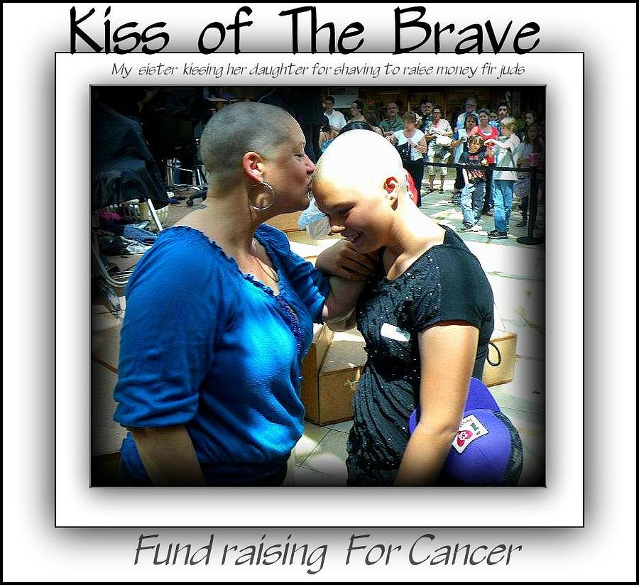 Fundraising For Cancer Print Photograph - Kiss Of The Brave by Danielle  Parent