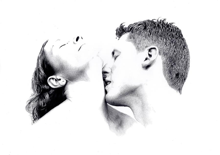Kiss On The Neck Drawing