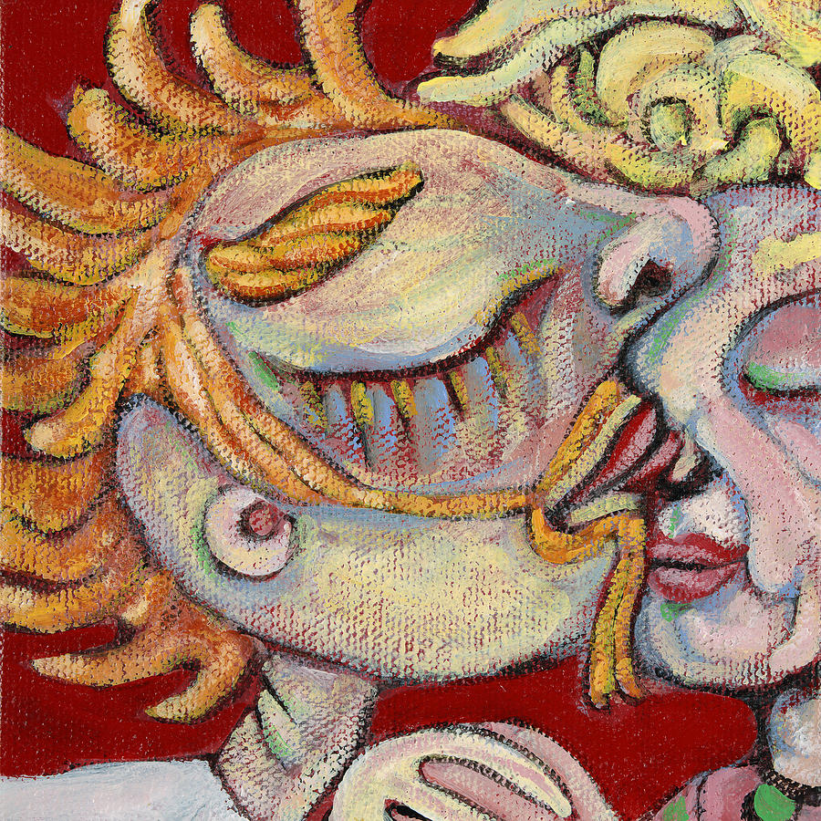 Kiss On The Nose Painting