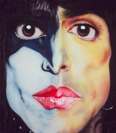 kiss paul stanley painting. Black Bedroom Furniture Sets. Home Design Ideas