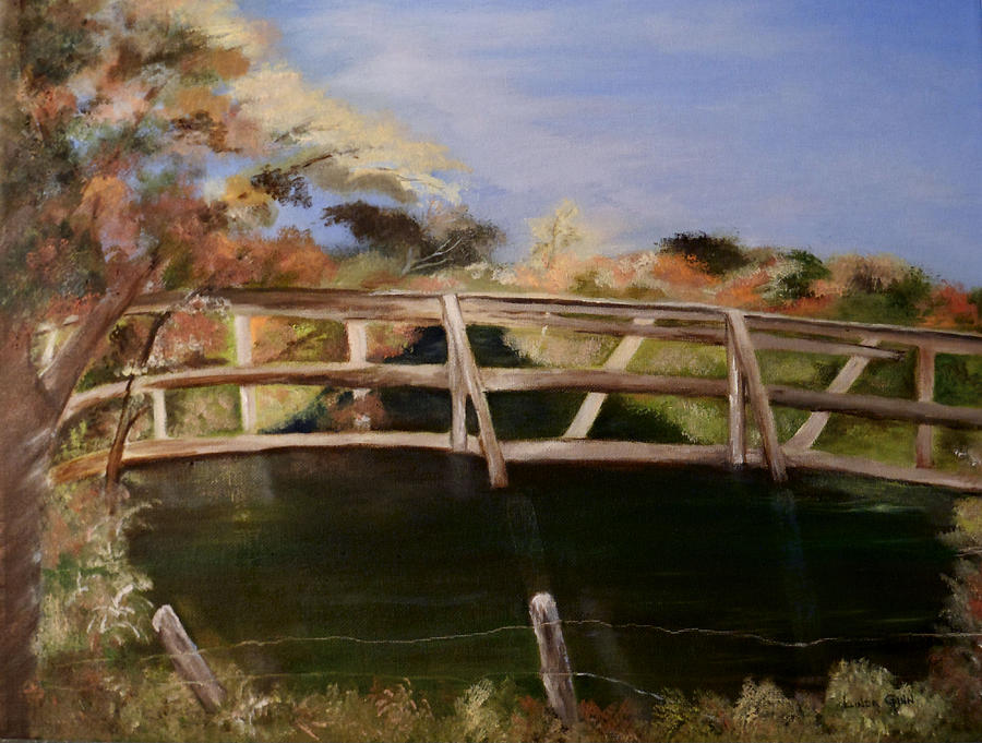 Kissing Bridge Painting  - Kissing Bridge Fine Art Print