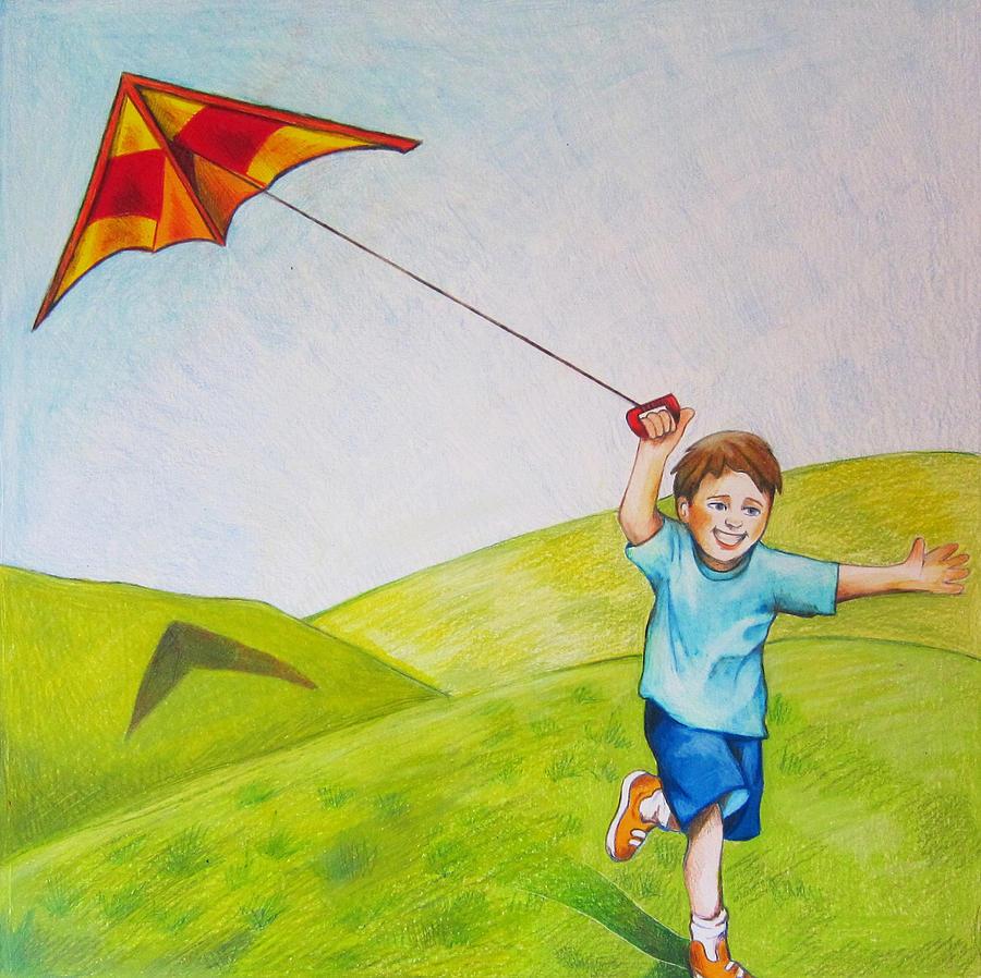 flying kite illustration - photo #33