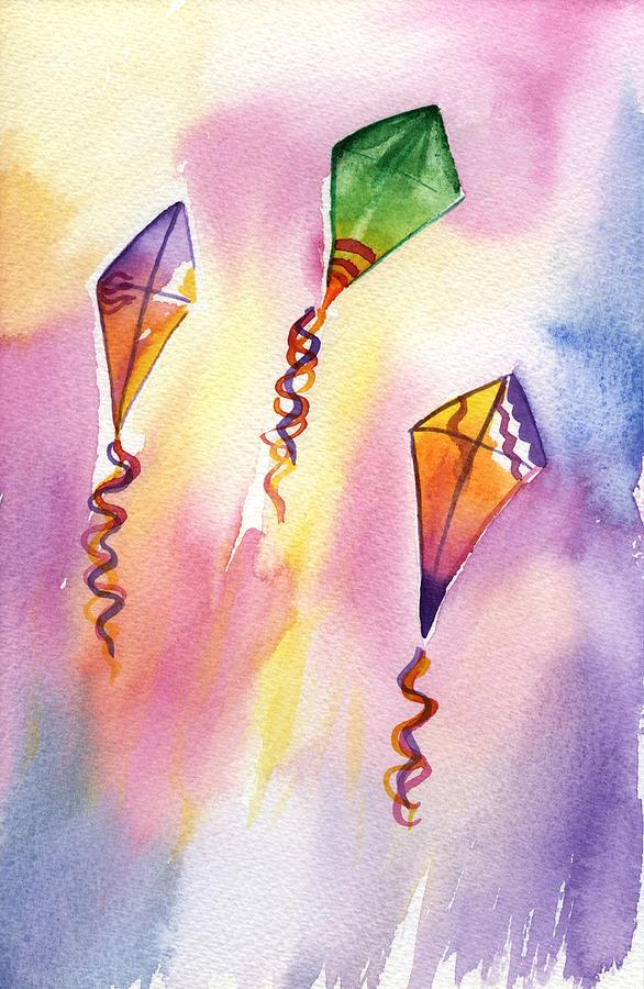 Kite Rockets Painting