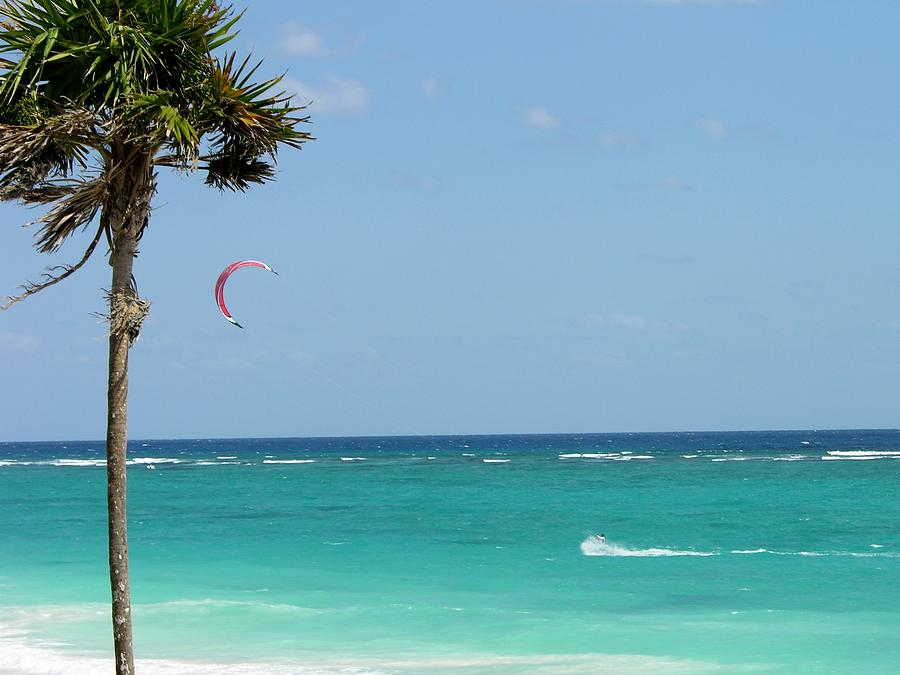 Kitesurfing The Caribbean Photograph  - Kitesurfing The Caribbean Fine Art Print