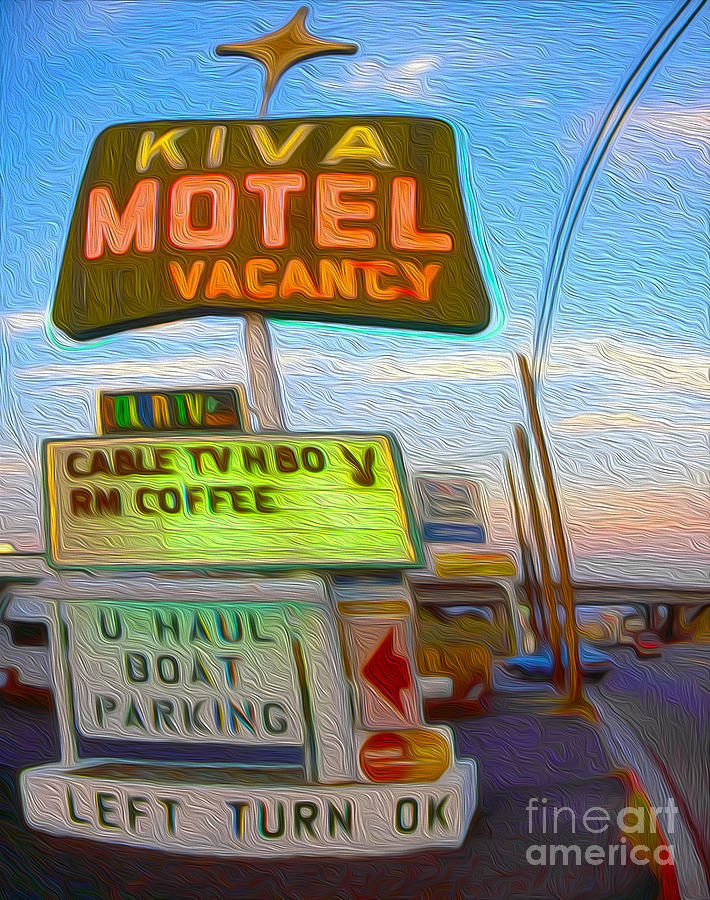 Kiva Motel - Needles Ca Painting  - Kiva Motel - Needles Ca Fine Art Print