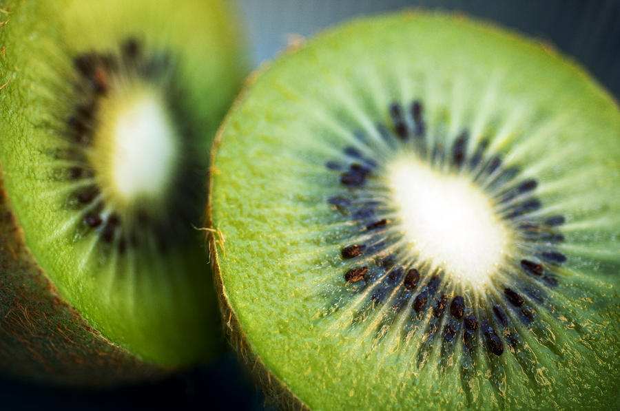 Kiwi Fruit Halves Photograph