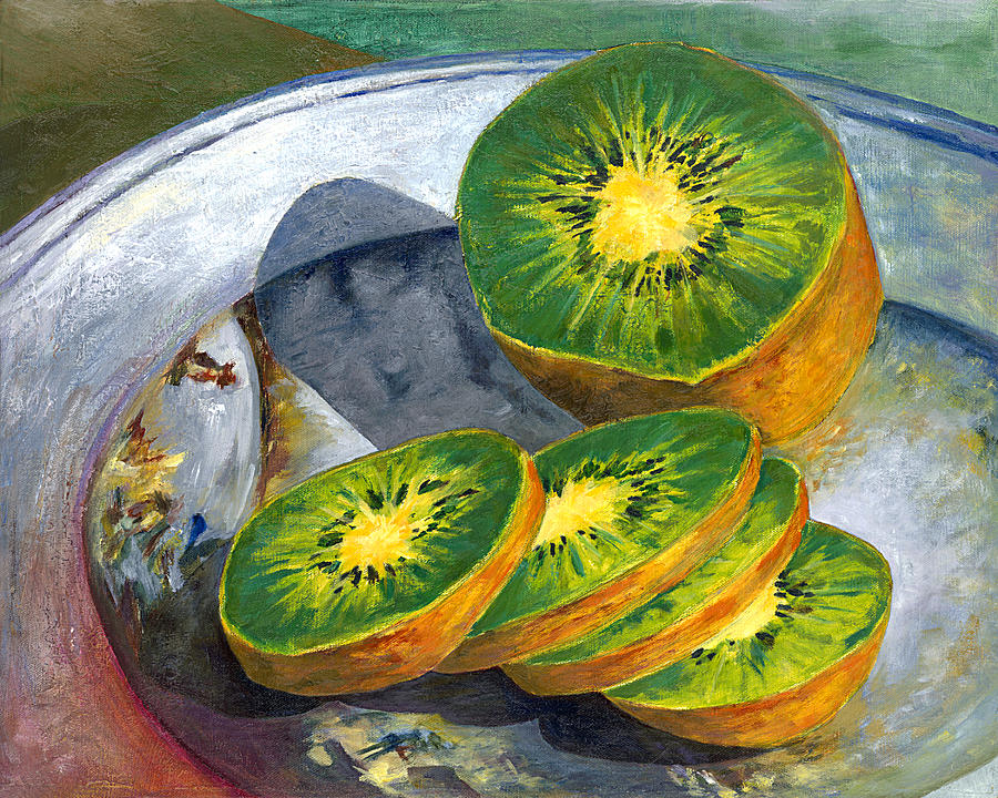 Oil On Canvas Painting - Kiwi by Johnny Butler