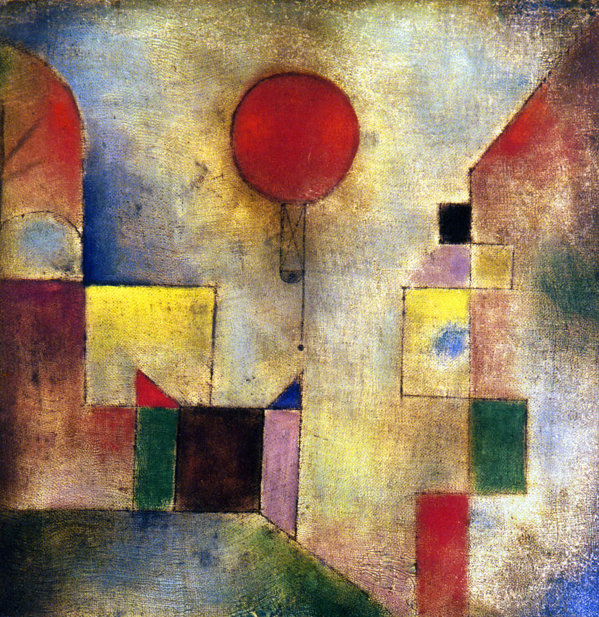 Klee: Red Balloon, 1922 Photograph