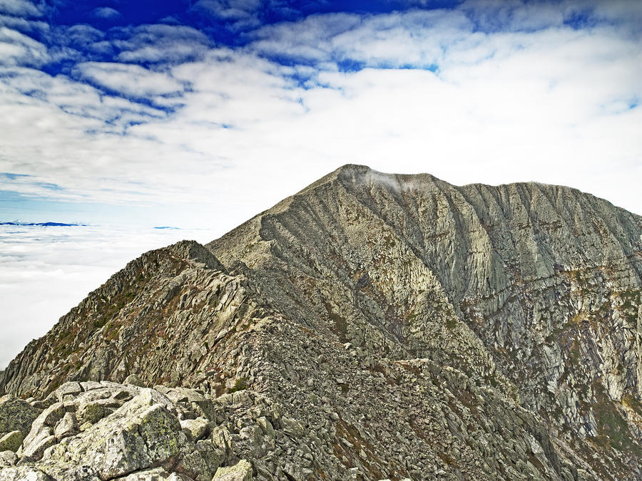 Knife Edge On Mount Katahdin Baxter State Park Maine Photograph