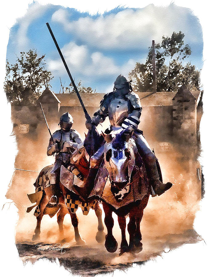 Knights Of Yore Digital Art  - Knights Of Yore Fine Art Print