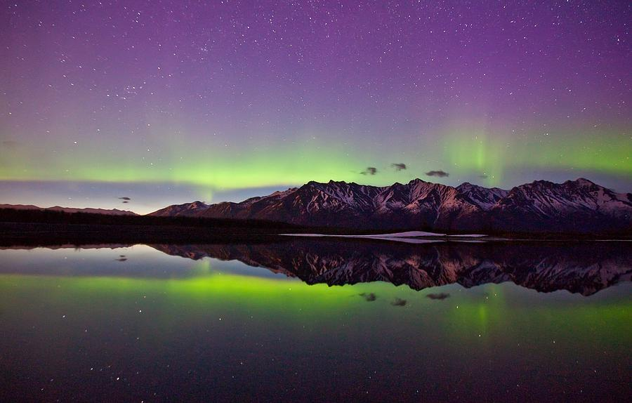 Knik Aurora Reflections Photograph  - Knik Aurora Reflections Fine Art Print