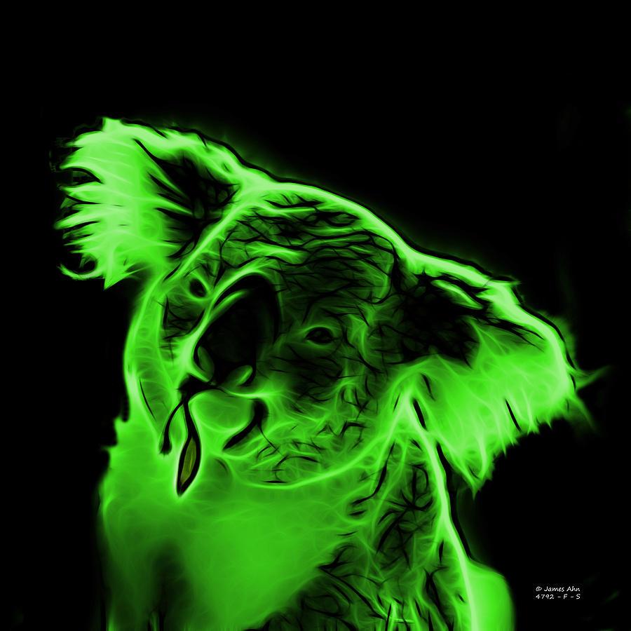 Koala Pop Art - Green Digital Art