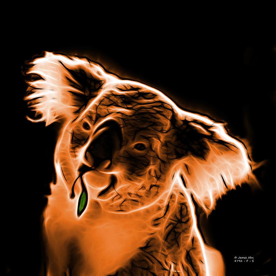 Koala Pop Art - Orange Digital Art