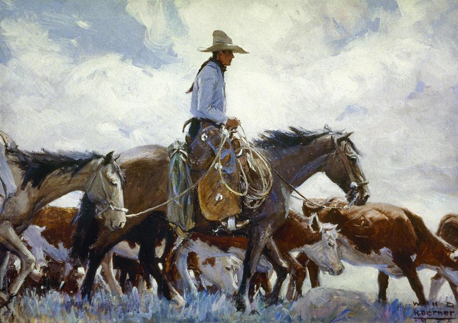Koerner: Cowboy, 1920 Photograph
