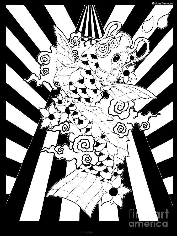 Koi Fish 3 Drawing