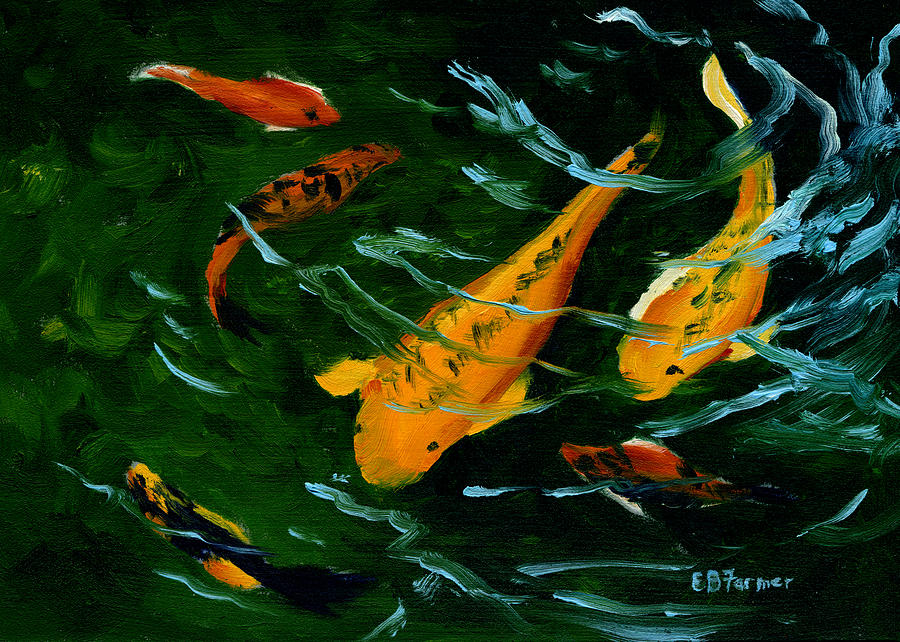 Image gallery koi fish paintings prints for Koi fish paintings prints