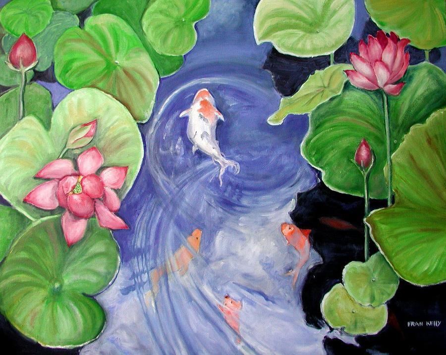 Koi by fran kelly koi painting koi fine art prints and for Koi prints for sale