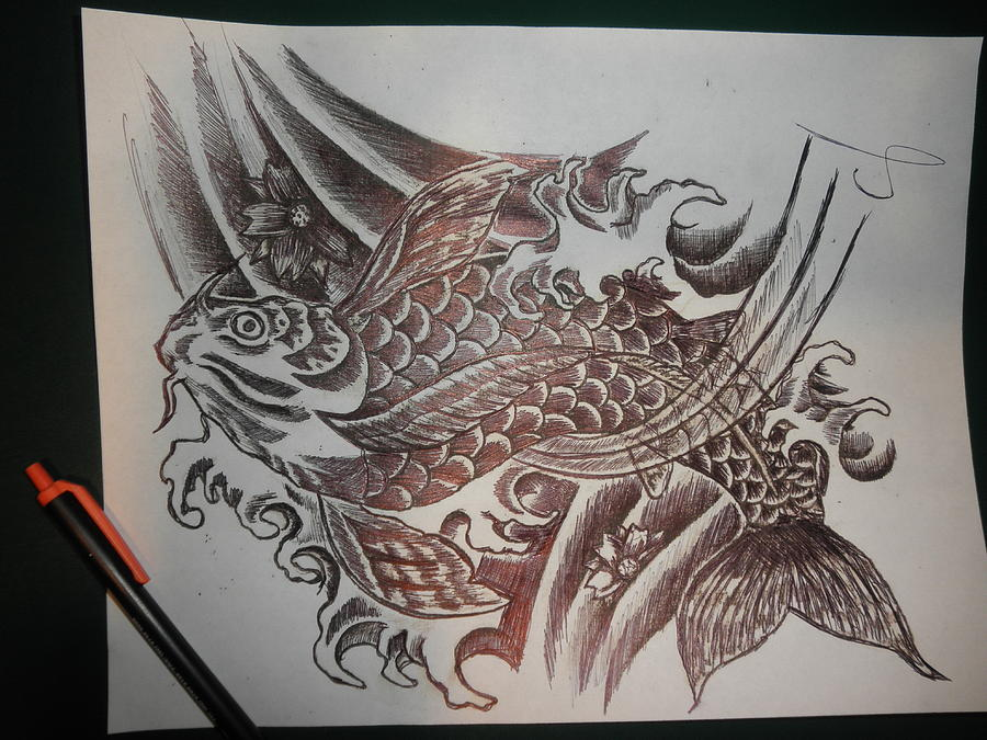 Koi by georgina strilakos koi drawing koi fine art for Koi prints for sale