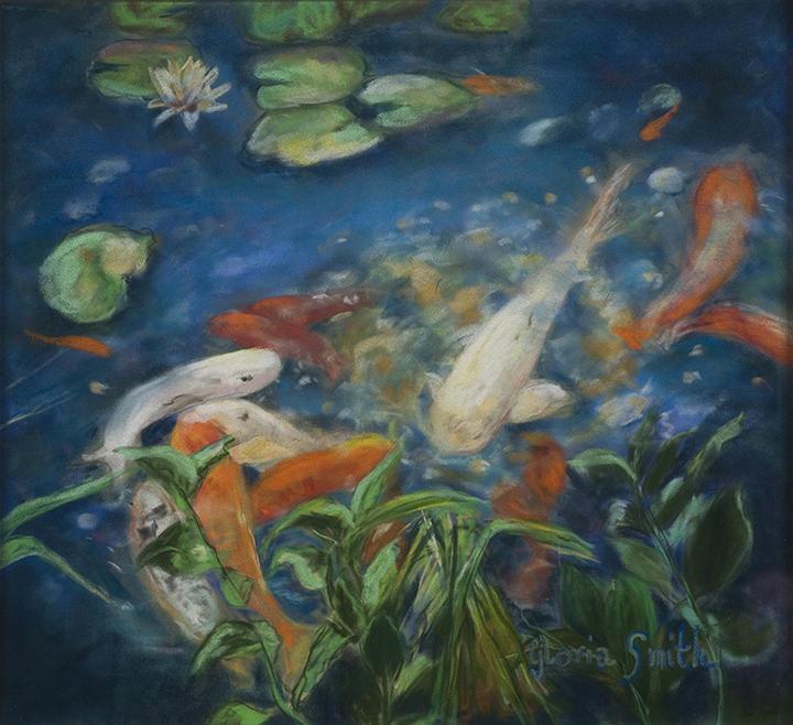 Koi by gloria smith koi painting koi fine art prints for Koi prints for sale