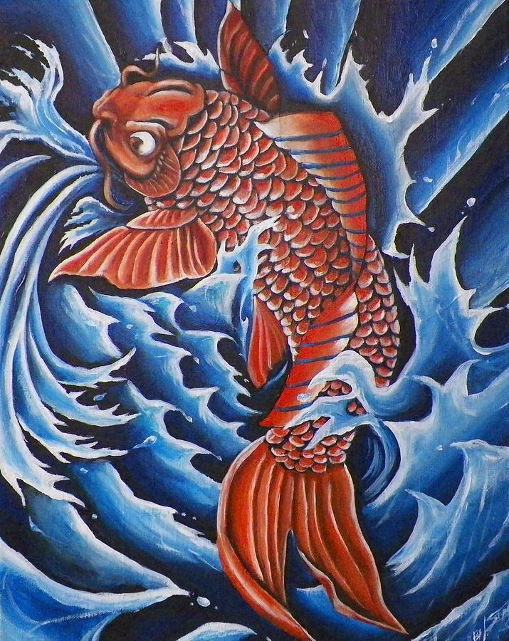 Koi painting for Koi prints for sale
