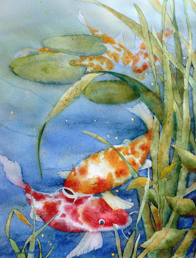 Koi Pond Ii Painting By Daydre Hamilton