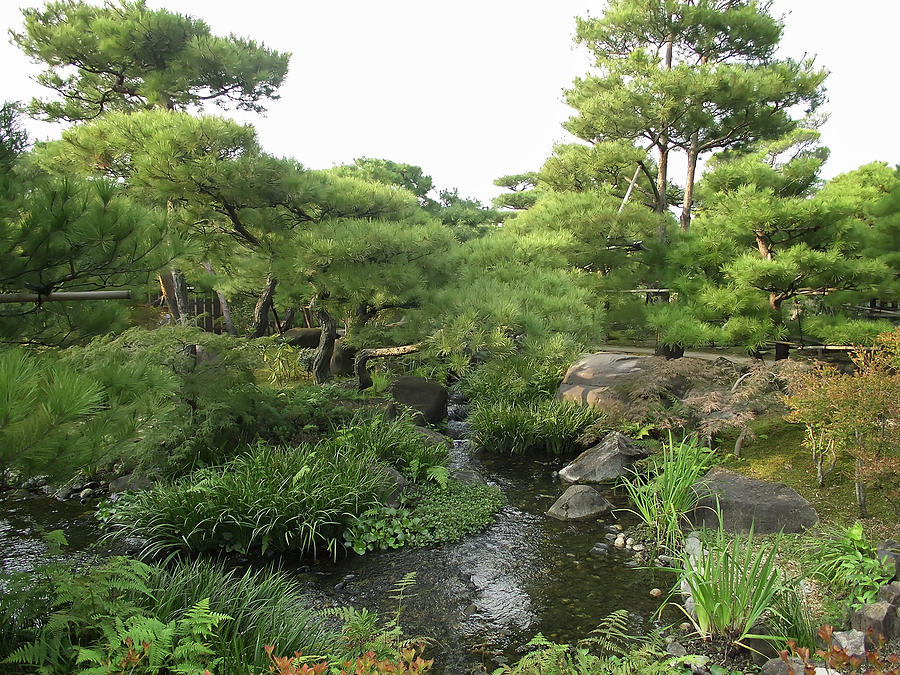 Japan  Photograph - Kokoen Samurai Gardens - Himeji City Japan by Daniel Hagerman
