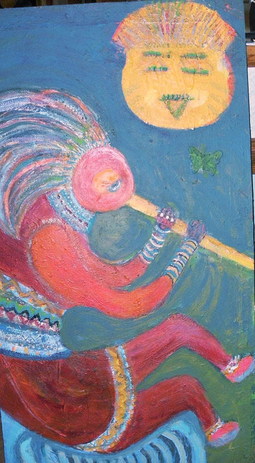 Kokopell Unfinished Painting Painting