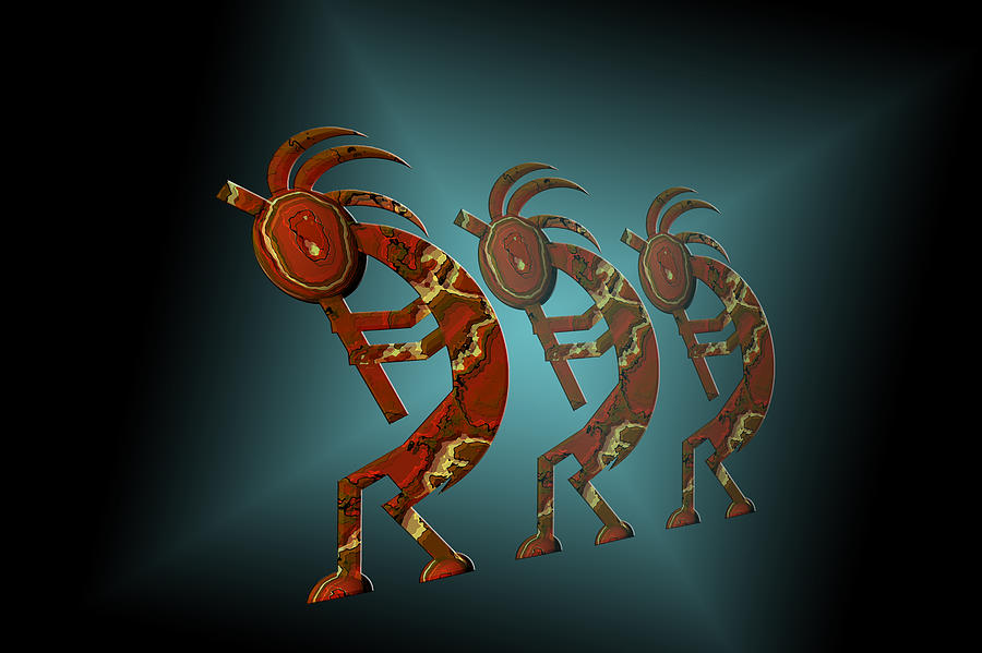 Kokopelli Digital Art  - Kokopelli Fine Art Print