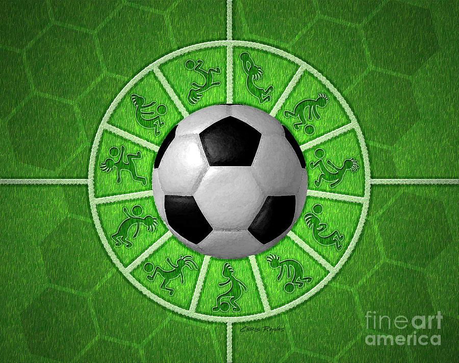 Kokopelli Soccer by Chris Rhynas Rolling Soccer Ball