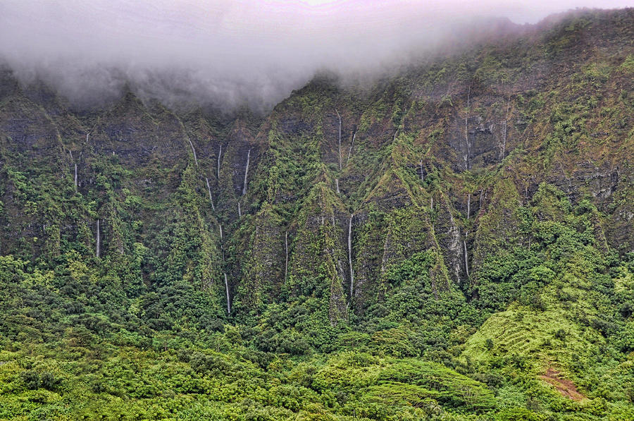 Koolau Waterfalls Photograph  - Koolau Waterfalls Fine Art Print