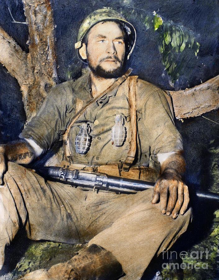 Korean War: G.i., 1950 Photograph