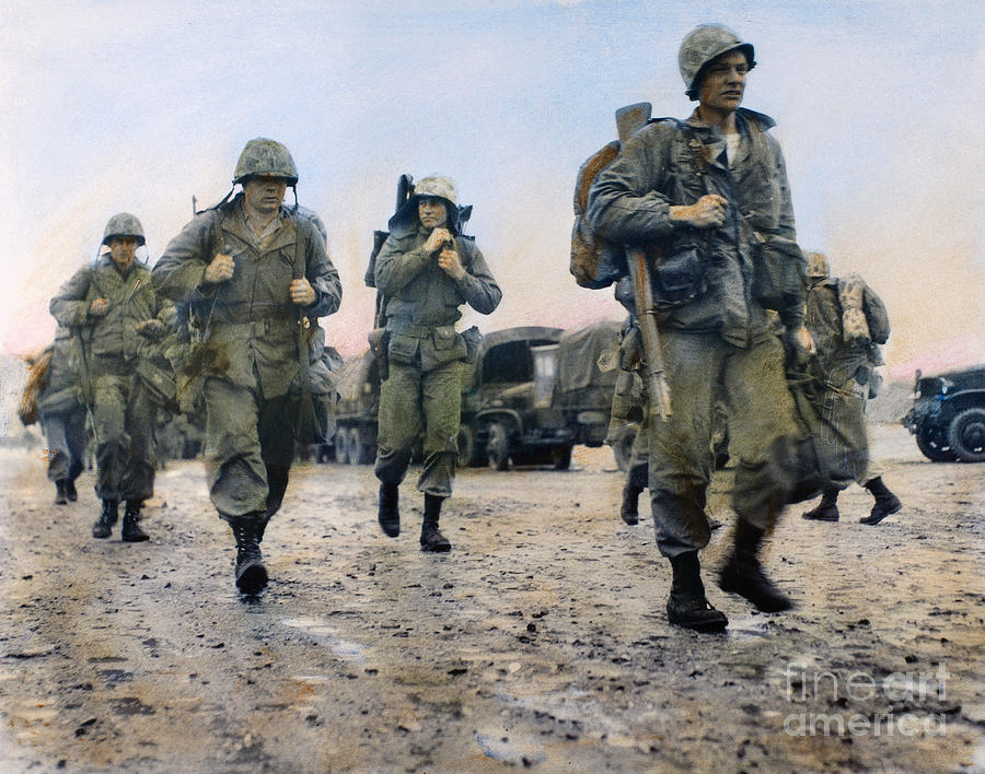 Korean War: Marines, 1953 Photograph  - Korean War: Marines, 1953 Fine Art Print