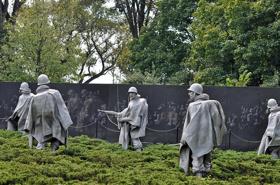 Korean War Memorial 4 Photograph  - Korean War Memorial 4 Fine Art Print