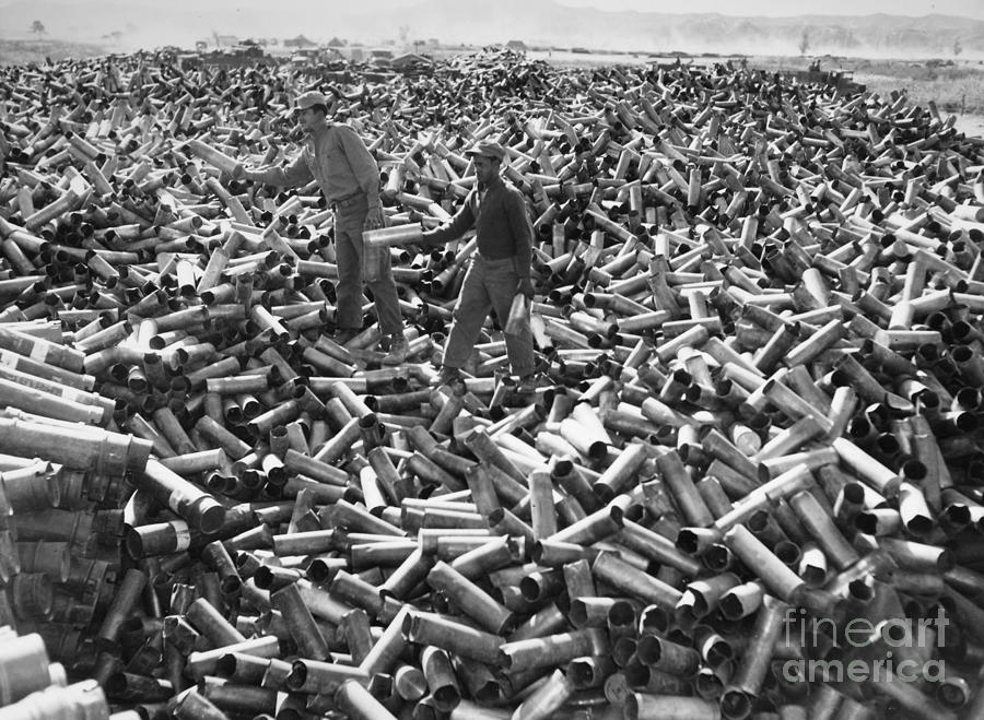 Korean War: Shell Casings Photograph