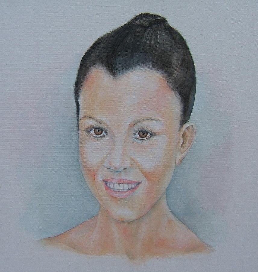 Original Fine Art Painting - Kourthney Kardashian by Nasko Dimov