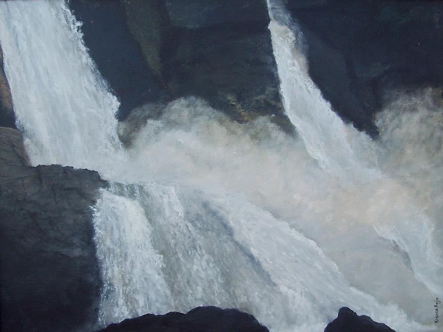 Water Falls Painting - Kr 385 Water Falls by Kishor Raja