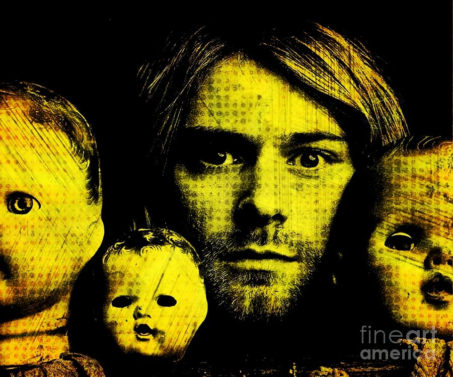 Kurt Cobain Digital Art  - Kurt Cobain Fine Art Print