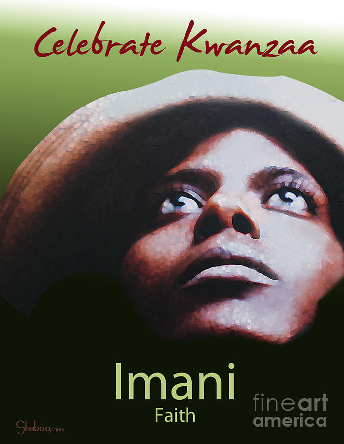 Kwanzaa Imani Digital Art  - Kwanzaa Imani Fine Art Print