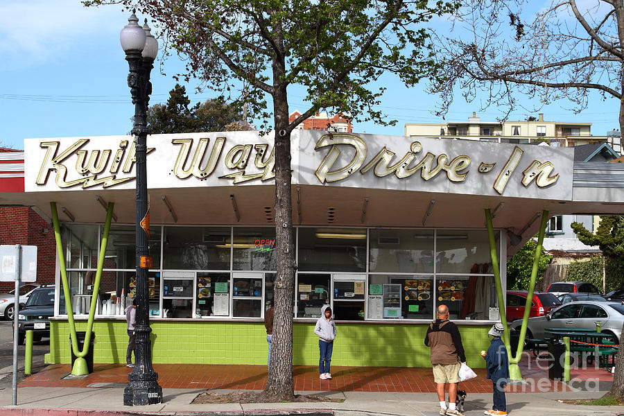Kwik Way Drive-in Fast Food Restaurant . Oakland California . 7d13521 Photograph