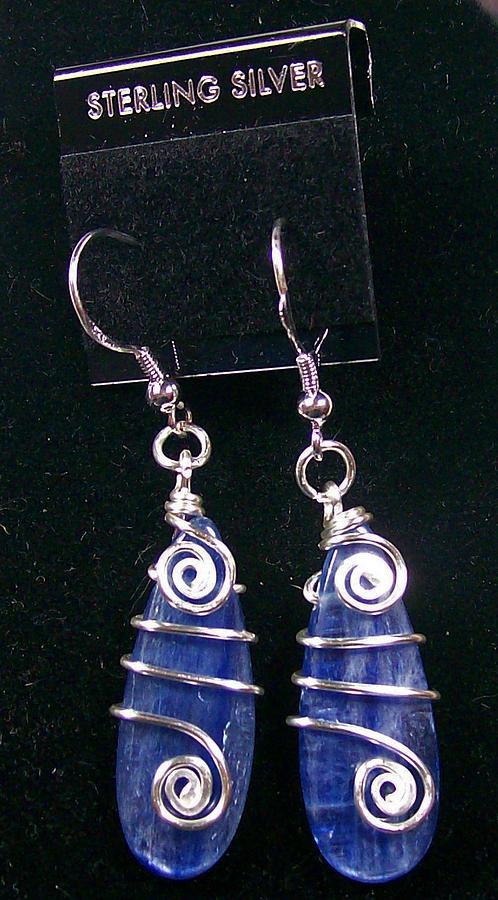 Jewelry Jewelry - Kyanite And Sterling Silver Earrings by Heather Jordan