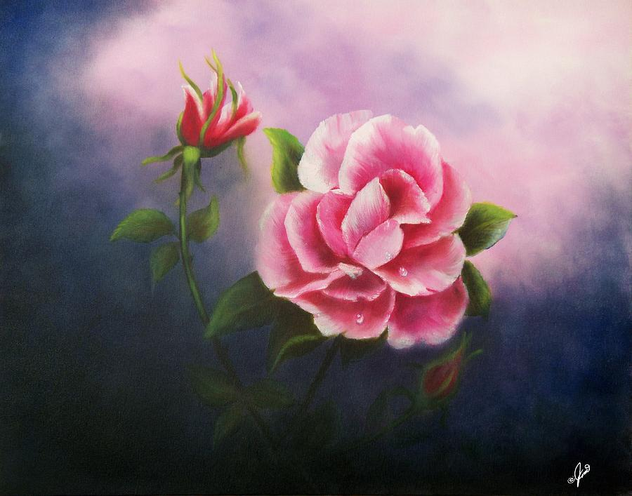 la bella rosa painting by joni mcpherson. Black Bedroom Furniture Sets. Home Design Ideas