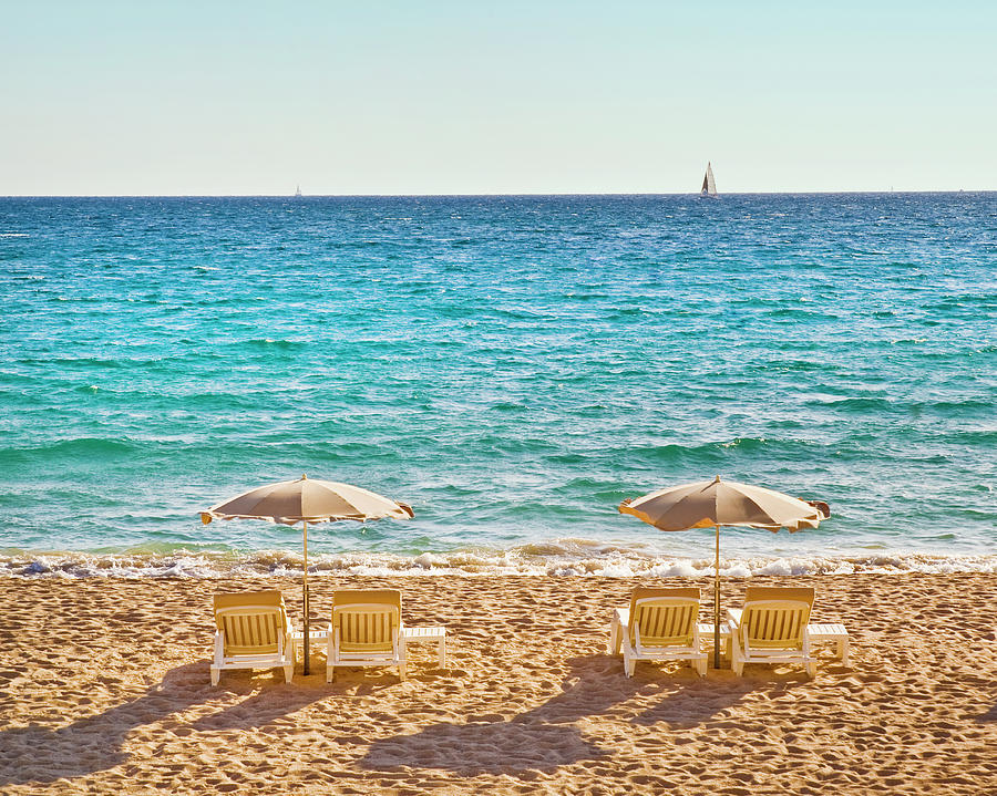 La Croisette Beach, Cannes, Cote Dazur, France Photograph