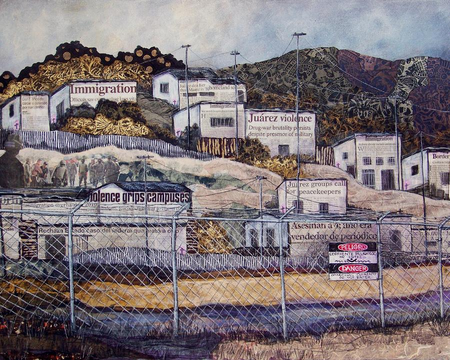 La Frontera Mixed Media  - La Frontera Fine Art Print
