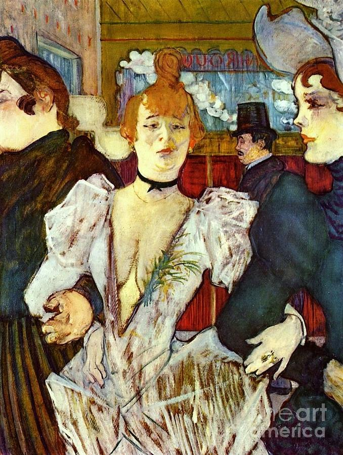 La Goule Arriving At Moulin Rouge Painting  - La Goule Arriving At Moulin Rouge Fine Art Print
