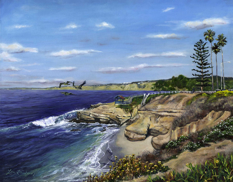 La Jolla Cove West Painting  - La Jolla Cove West Fine Art Print