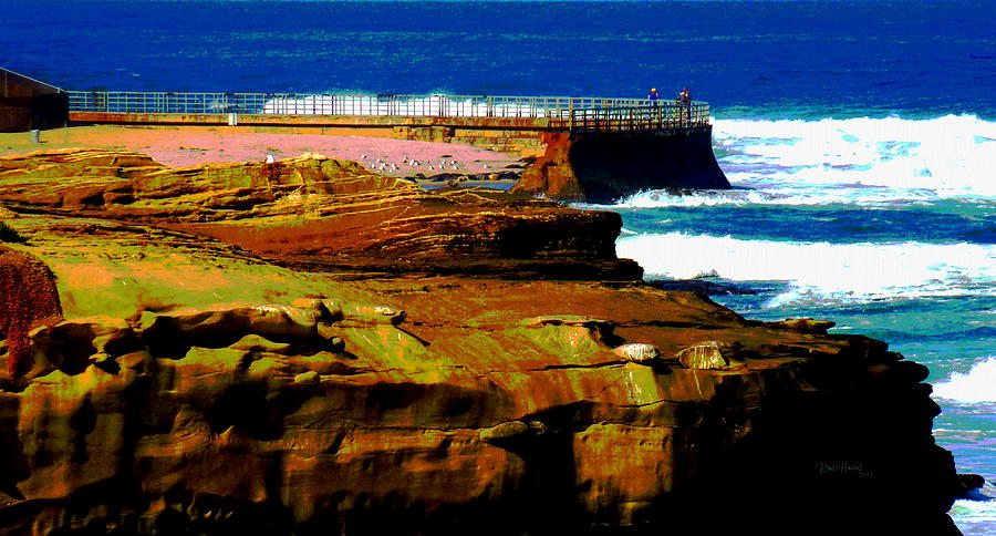 La Jolla Rocks 2 Wall Photograph  - La Jolla Rocks 2 Wall Fine Art Print
