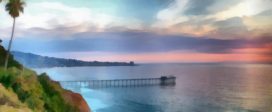 La Jolla Scripps Pier Painting