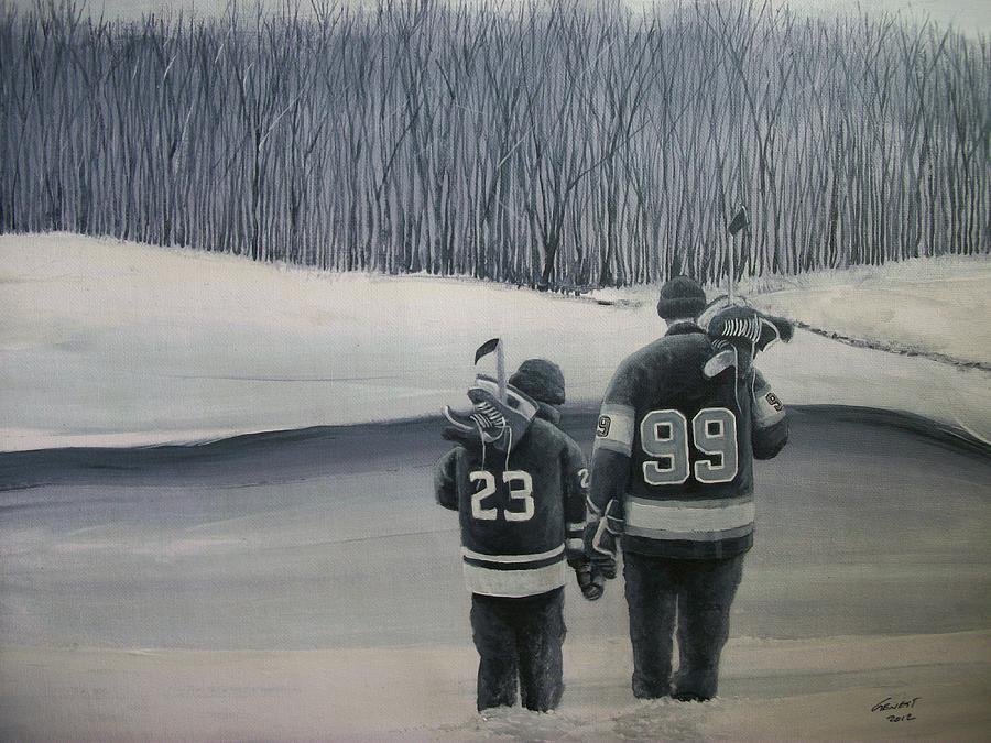 La Kings In Black And White Painting