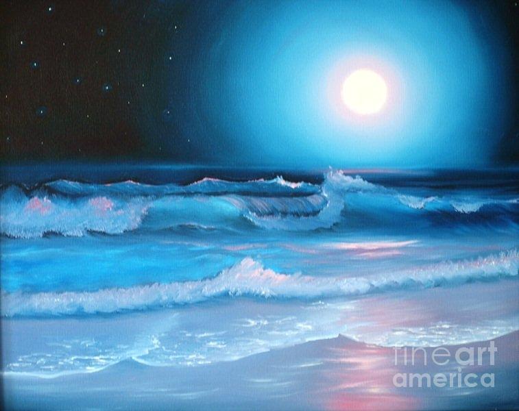 La Luna  My Seascape Collection Painting