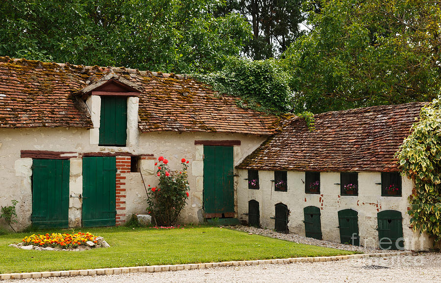 La Pillebourdiere Old Farm Outbuildings In The Loire Valley Photograph  - La Pillebourdiere Old Farm Outbuildings In The Loire Valley Fine Art Print